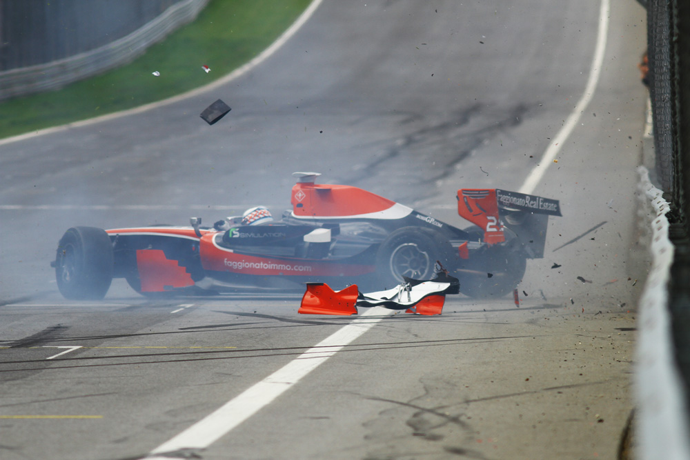 Marc Faggionato is unharmed after this spectacular crash