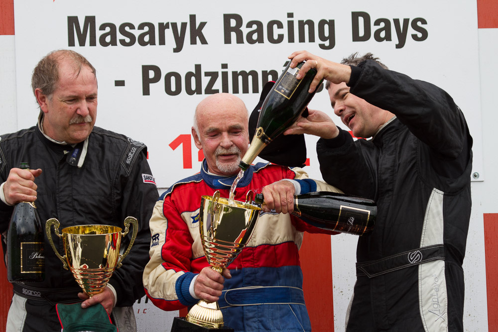 Karl Heinz Becker celebrates victory