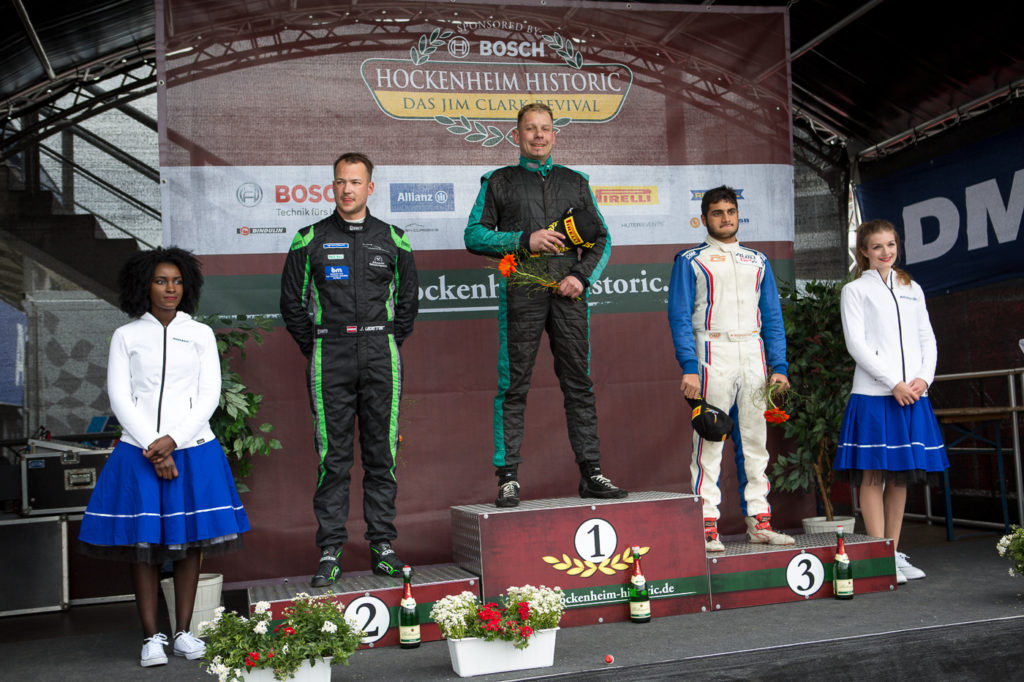 Podium of the FORMULA class of the first race in Hockenheim.