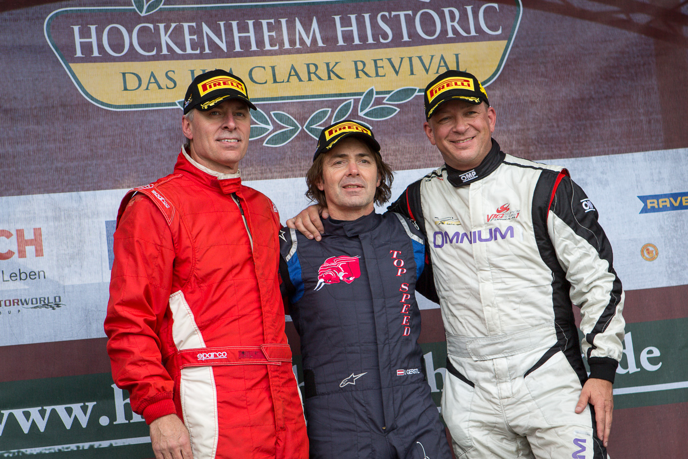 Podium of race 2 of the OPEN class in Hockenheim.