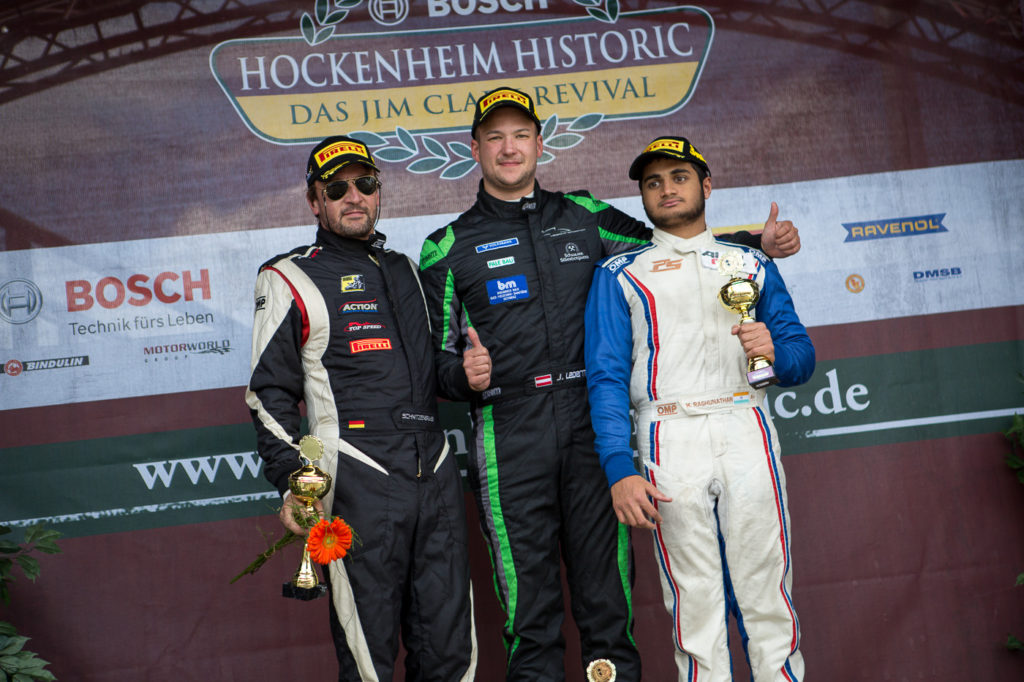 Podium of the FORMULA class of race 2 in Hockenheim.