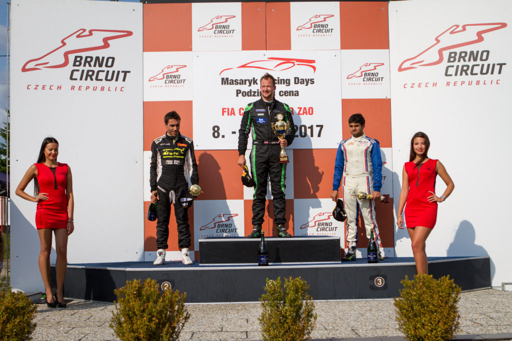Podium race 1 in Brno 2017, FORMULA class.