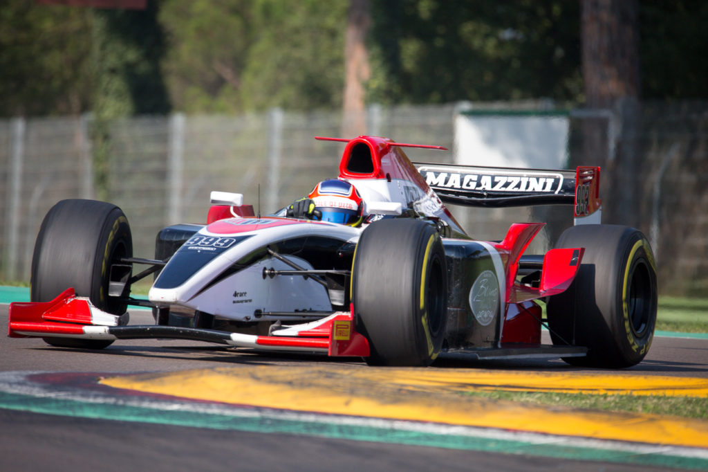 Local hero in Imola: Italian Salvatore De Plano.