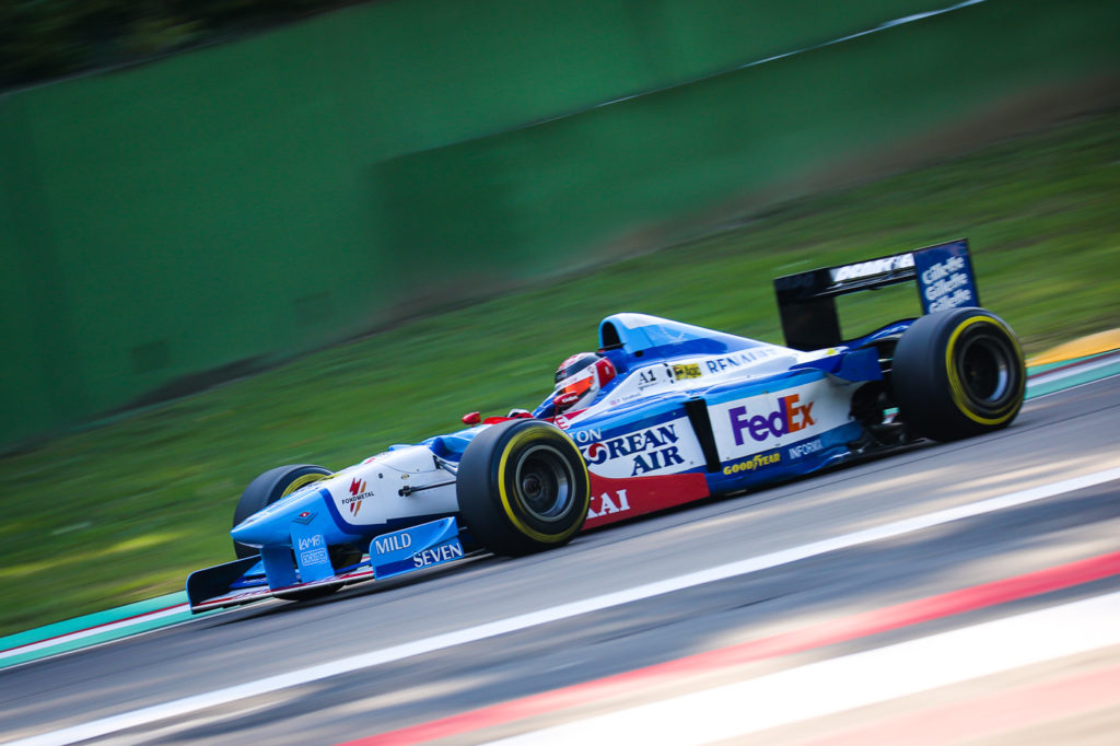 Phil Stratford on track in Imola during Qualifying in Imola 2017.
