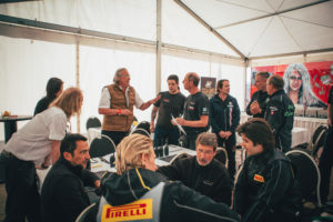 Race Director Rainer Werner with drivers, teams and organisation at the drivers briefing in Hockenheim