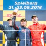 OPEN podium (f.l.): Hans Laub, Ingo Gerstl and Phil Stratford